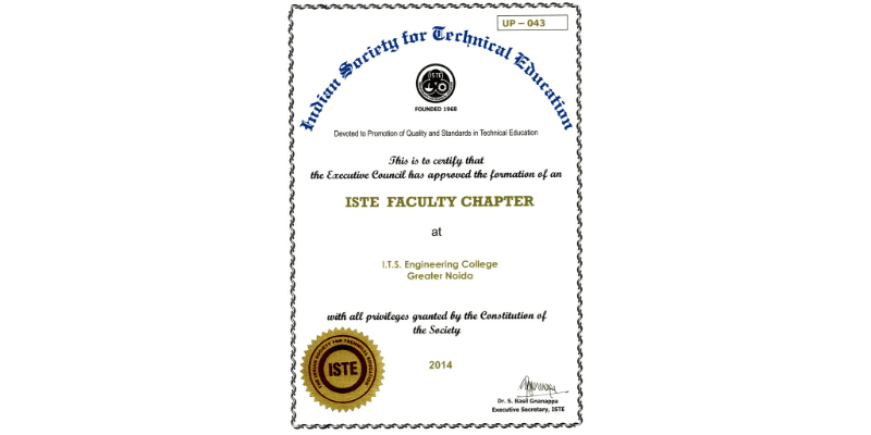 Indian Society for Technical Education Faculty Chapter
