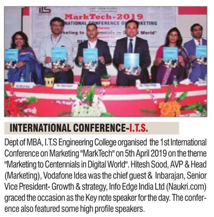 "International Conference on the theme ""Marketing to Centennials in Digital World"""