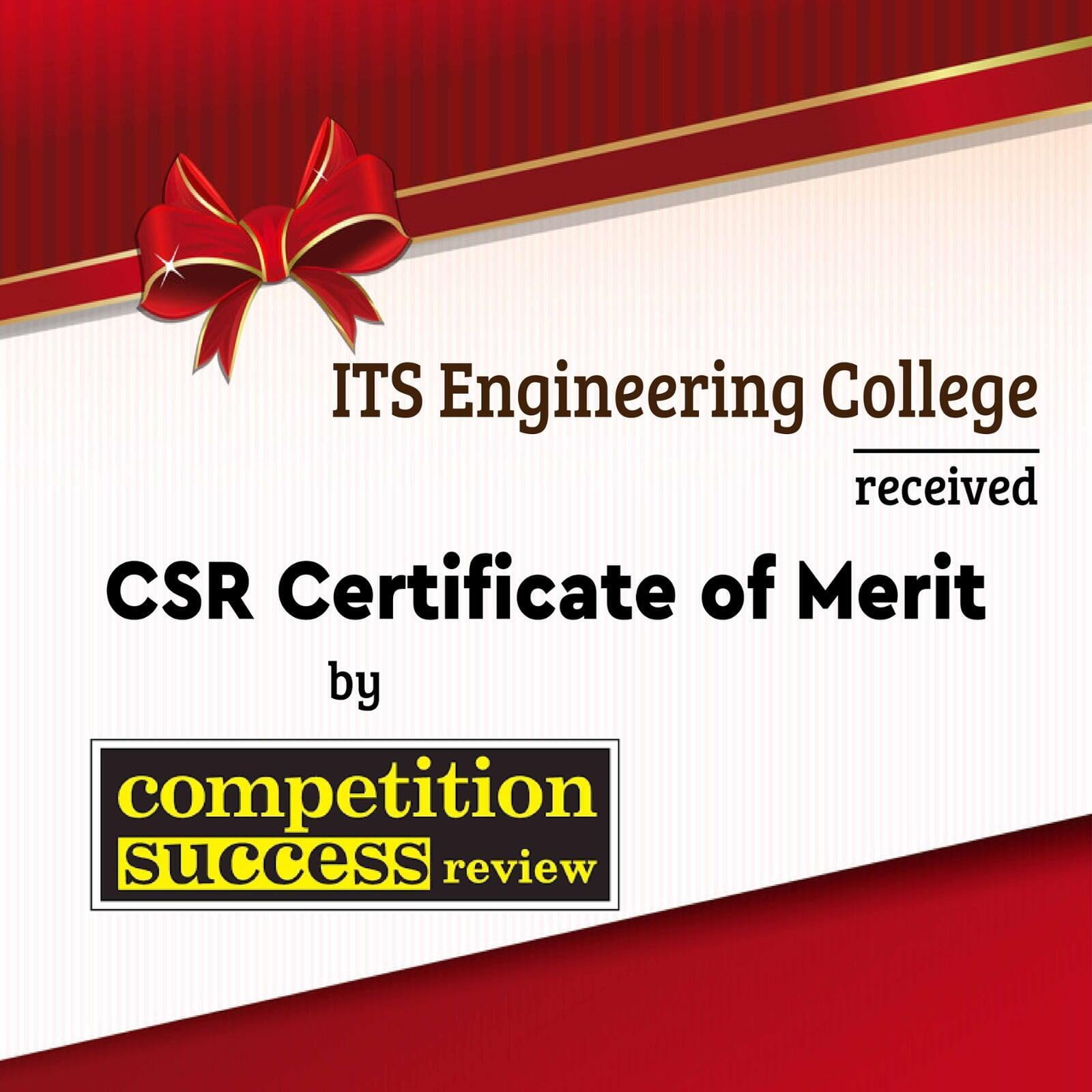 Certificate of Merit by Competition Success Review 2020-21