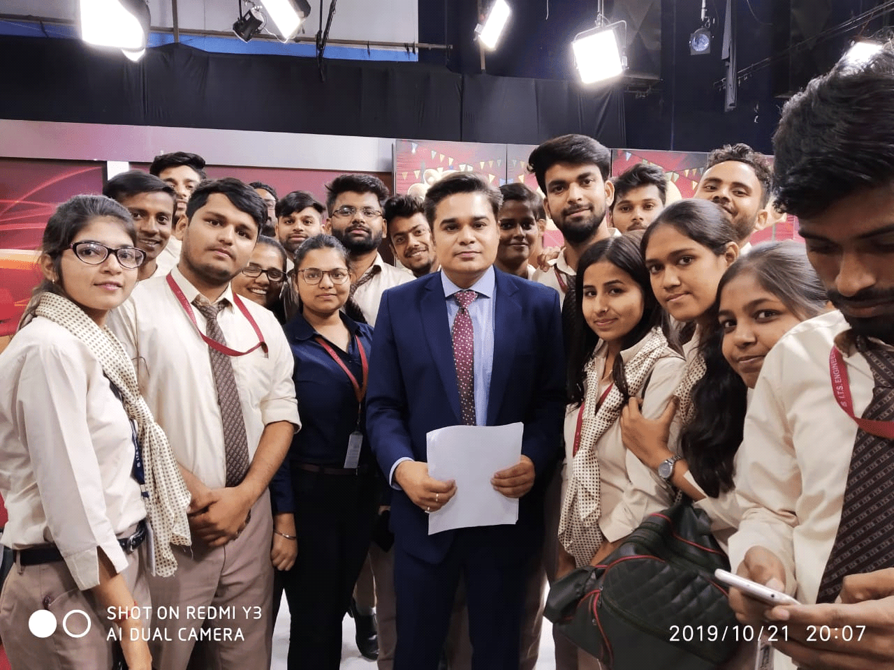 Student Visit to News 18 at Film City, Noida