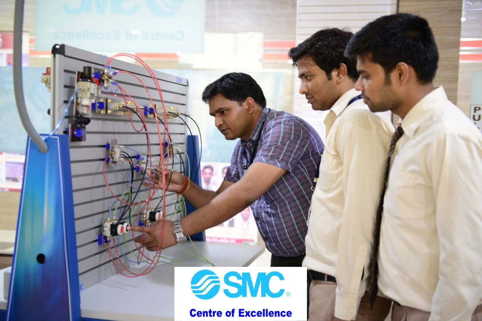 ITS SMC Pneumatics Lab with Students