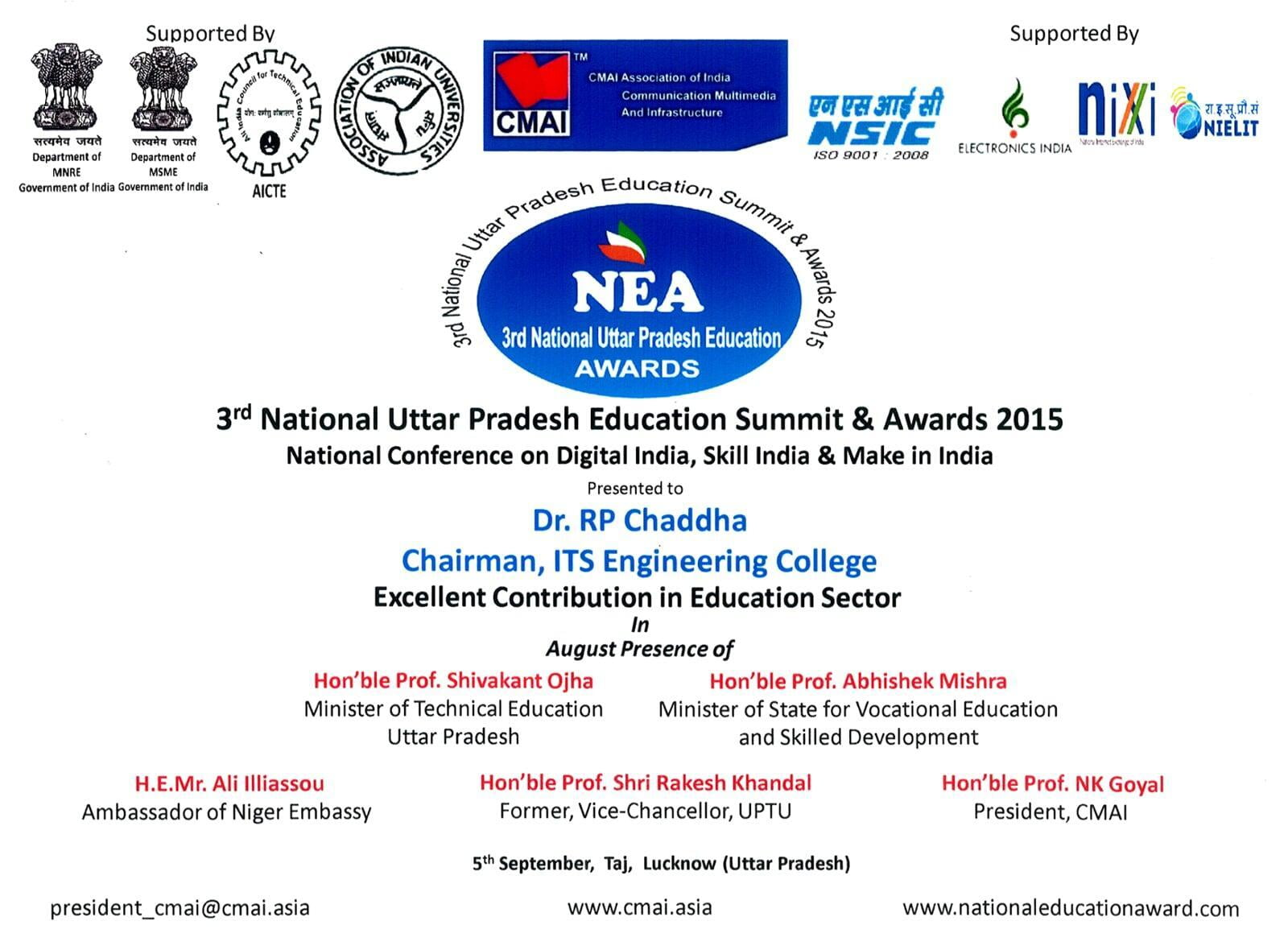 Excellent Contribution in Education Sector